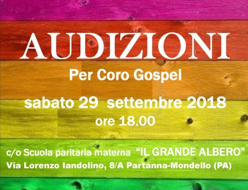 Audizioni coro Gospel The Nightingales Singers Ensamble